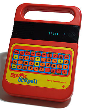 Texas Instruments Speak & Spell using a TMC028...
