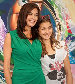 Teri Hatcher and her daughter at the World of ...