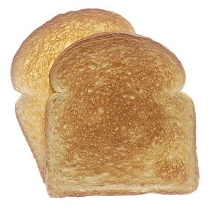 two slices of toasted white bread