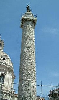Columna Trajana como conmemoracion por las victorias en las Guerras Dacias