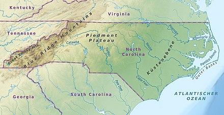 Geographie North Carolinas Wikipedia
