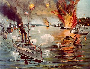 English: Battle of Manila Bay, 1 May 1898 Cont...