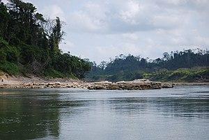 English: View of the Usumacinta River near Yax...