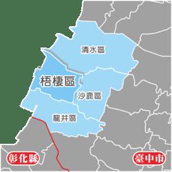 臺中市位置圖