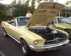 English: 1967 Ford Mustang photographed in Mon...