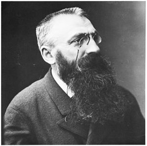 Photo portrait of Auguste Rodin by Félix Nadar...