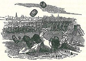 illustration of Jonathan Swift's novel Gullive...