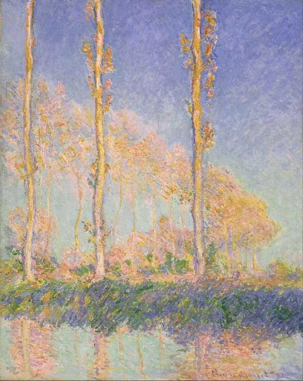 Claude Monet Poplars 1891