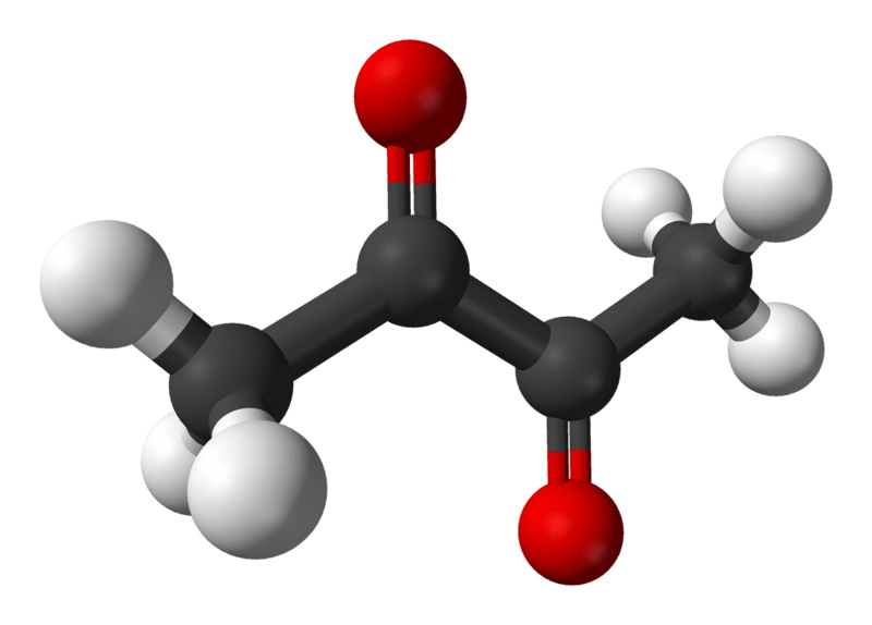 Diacetyl Molecular Structure