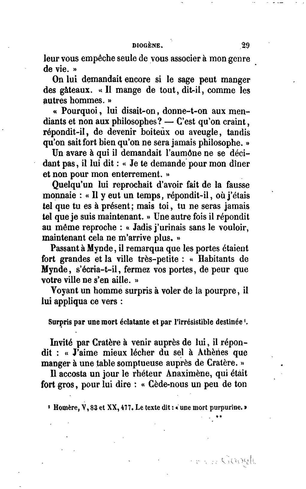 Texte Philosophique Sur La Mort : texte, philosophique, Page:Diogène, Laërce, Doctrines, Philosophes, L'Antiquité,, Trad., Zévort.djvu/313, Wikisource