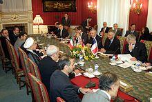 Nuclear talks in Tehran.Iran-EU three's first meeting, Tehran, Iran, 21 October 2003