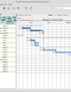 The main window of ganttproject showing gantt chart sample project also wikipedia rh enpedia