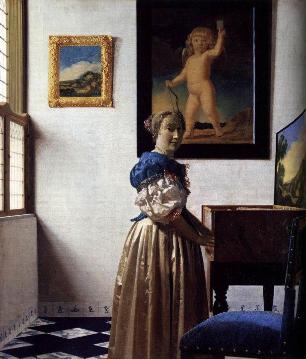 Johannes Vermeer - Lady Standing at a Virginal - WGA24708