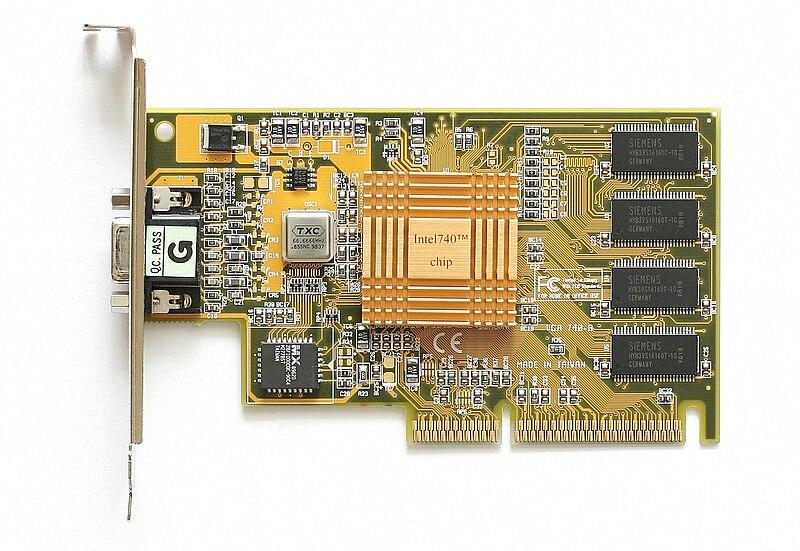 Intel i740 AGP graphics card