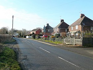 English: North end of South Marston Looking so...