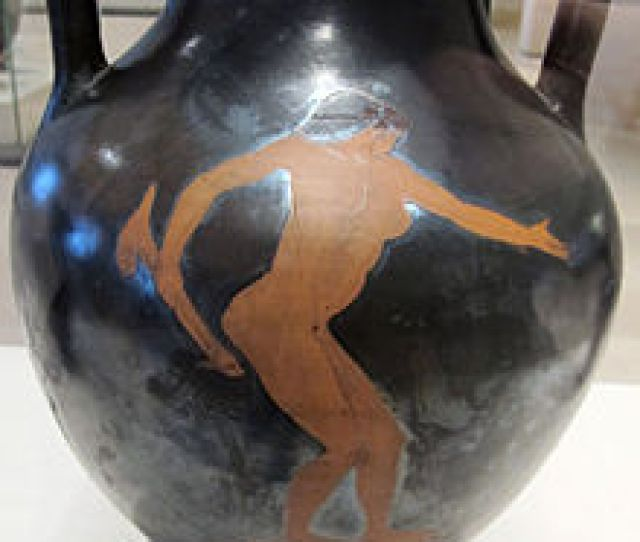 A Woman With A Dildo Red Figure Amphora Attributed To The Flying Angel Painter C 490 Bc City Of Paris Museum Of Fine Arts