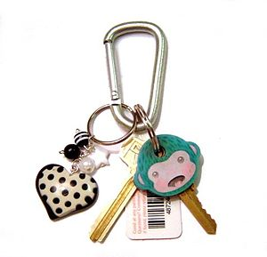 A DIY keychain made by http://omglia.com pictu...