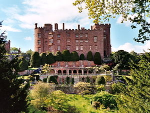 Powis Castle, originally built c. 1200 as a fo...