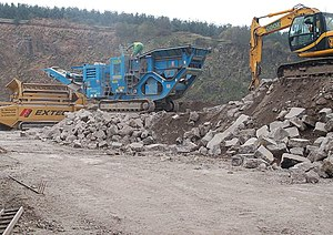English: Recycling an airfield N03 The blue ma...