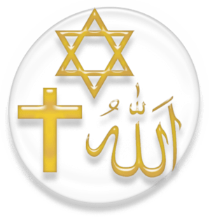 Symbol of the three Abrahamic religions.