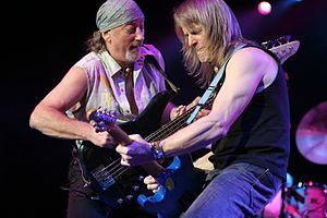Roger Glover and Steve Morse of Deep Purple ja...