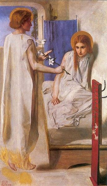 Ficheiro:Rossetti Annunciation.jpg