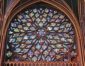 Rose window - Upper Chapel - Sainte Chapelle ,...