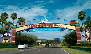 English: Walt Disney World Resort entrance Esp...