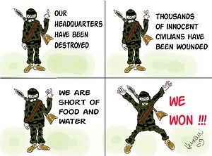 """We won"" in hamas interpretation"