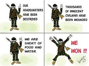 """English: """"We won"""" in hamas interpret..."""