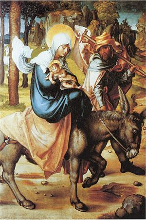 The Flight into Egypt: Jesus, the Virgin Mary ...