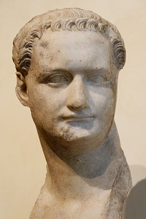 Bust of Domitian. Pentelic marble, second part...