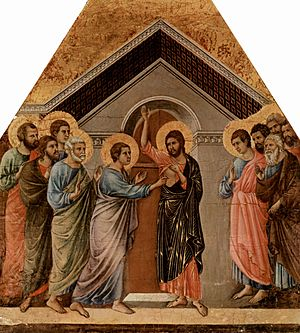 Jesus appearing to Thomas the Apostle, from th...
