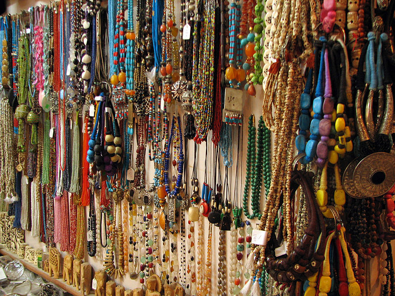 FileIndia Rishikesh 025 A Rainbow Of Necklaces For