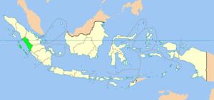 Location of West Sumatra home of the Minangkabau