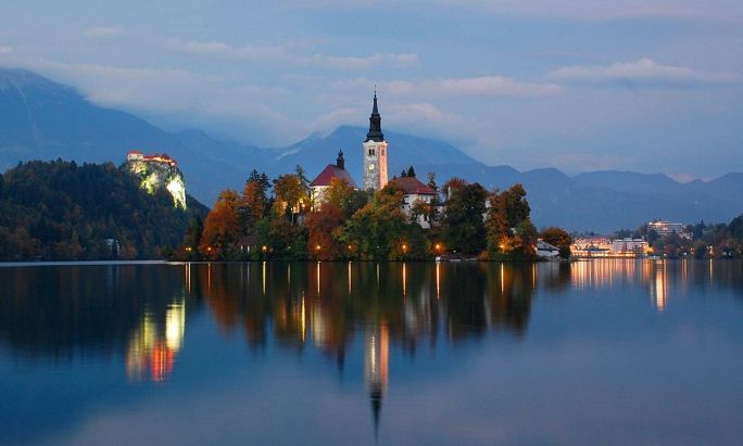 Lake Bled At Twilight, Oct 2013