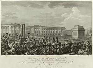 Français : Journée du 21 janvier 1793 la mort ...