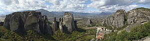 Meteora Greek-Orthodox monasteries, Greece.