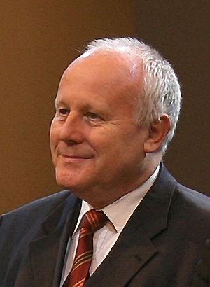Georg Milbradt, prime minister of Saxony, duri...