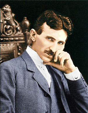 English: Nikola Tesla color