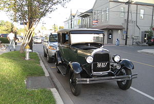 New Orleans: 1929 Model A Ford on Prytania Str...