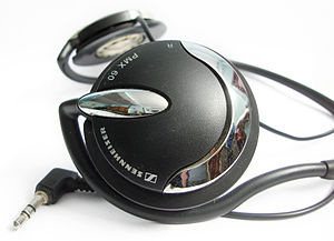 English: Sennheiser PMX 60 neck-worn headphone