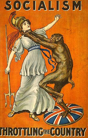 Conservative Party poster from 1909, in which ...