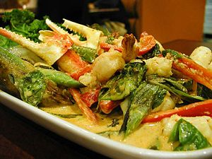 Thai Seafood Curry Dish