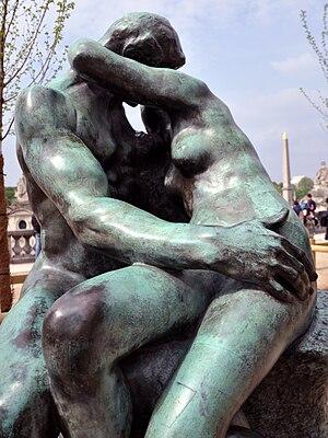 Français : Le Baiser, par Auguste Rodin. Jardi...