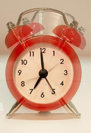 The delightful Eko alarm clock - it's only 4in...