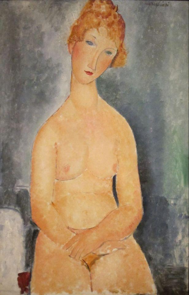 Amedeo Modigliani (1884-1920) - Seated Nude, 1918