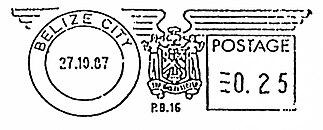 International Postage Meter Stamp Catalog/Belize