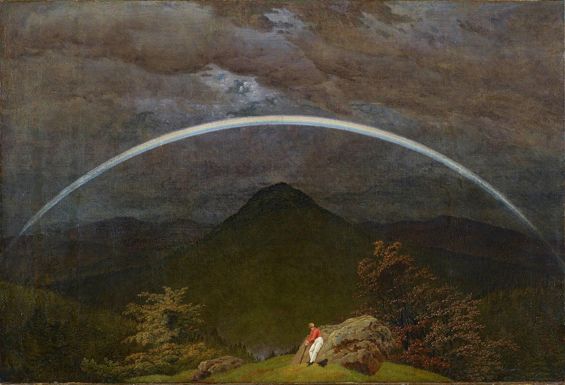 Paesaggio montano con arcobaleno  Wikipedia