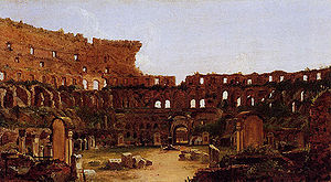 Interior of the Colosseum, Rome. Thomas Cole, ...
